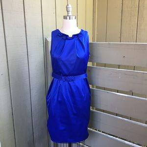 Jones NY Midi Sleeveless Sheath Dress w/ Belt